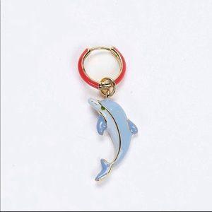 Man Repeller Dolphin Charm Earring